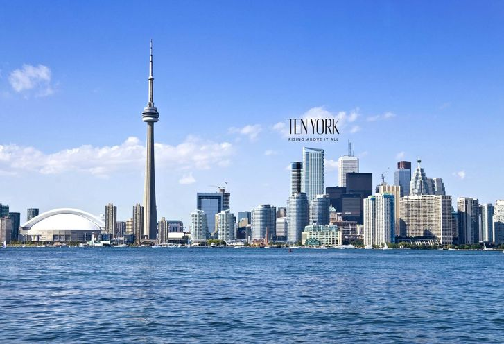 TEN YORK's proximity to downtown Toronto landmarks