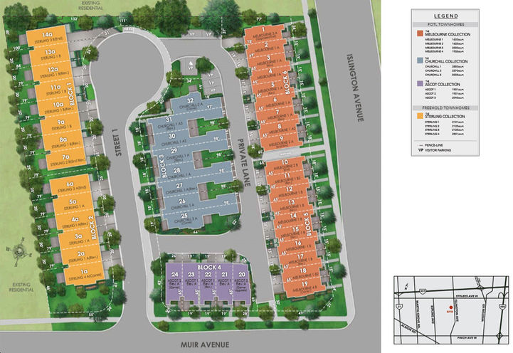 Site Plan for The Belmont Residences