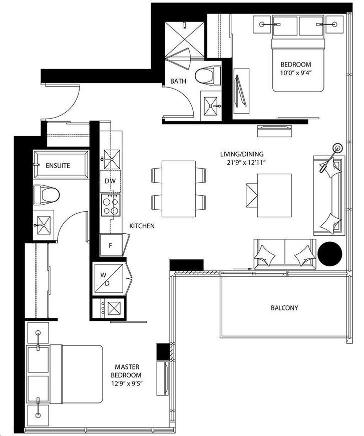 The Bond Condos By Lifetime B808 Floorplan 2 Bed 2 Bath