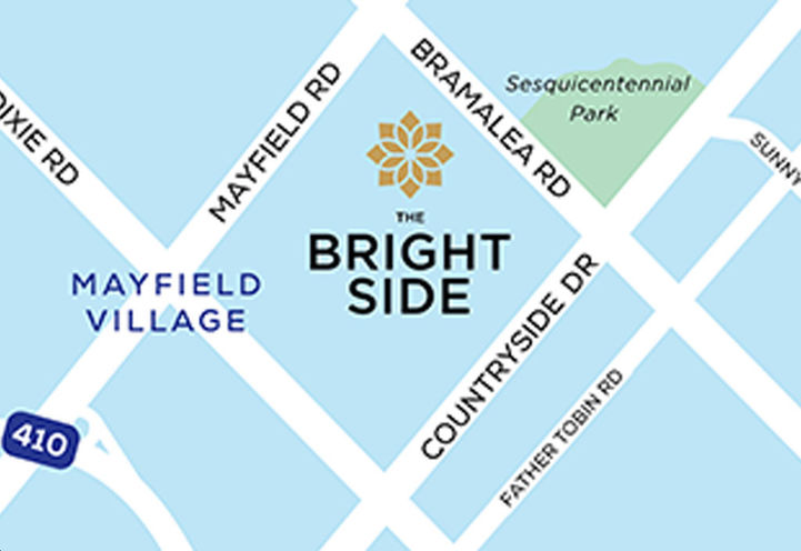 The Bright Side at Mayfield Village Map Location