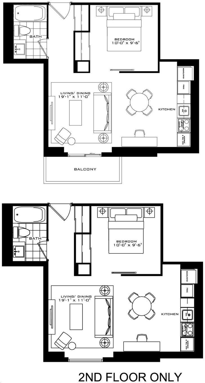 The Britt Condos By Lanterra Rosehill Floorplan 1 Bed 1 Bath