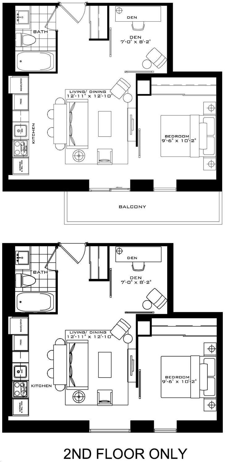 The Britt Condos By Lanterra Stratford Floorplan 1 Bed 1 Bath