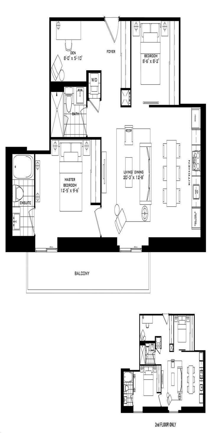 The Britt Condos By Lanterra Croydon Floorplan 2 Bed 2 Bath