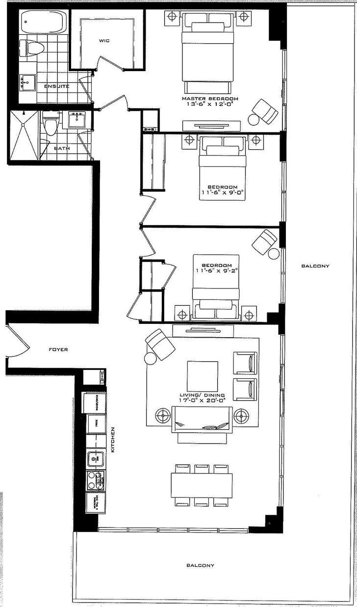 The Britt Condos by Lanterra the sutton Floorplan 8 bed & 8 bath