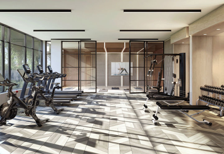 The Butler Condos Fitness Centre with Cardio, Weights, and Yoga Studio
