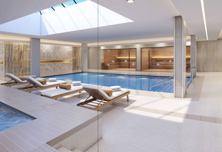 The Butler Condos Indoor Pool and Seating
