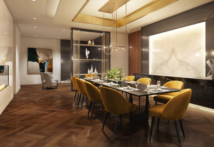 The Butler Condos Private Dining Room with Seating