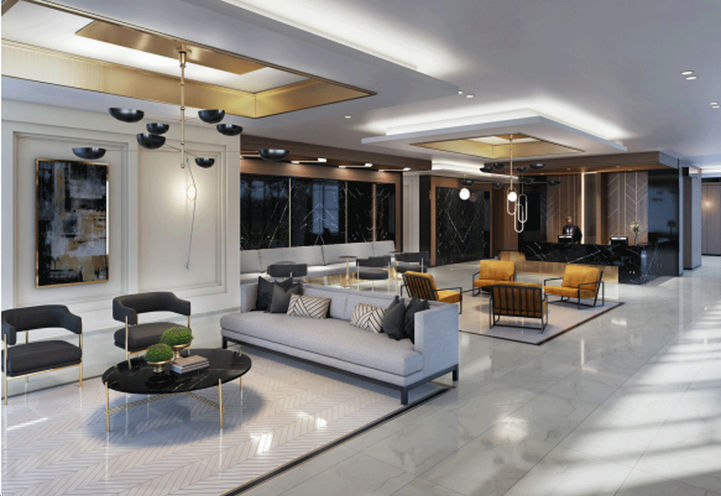 The Butler Condos Resident Lobby and Concierge