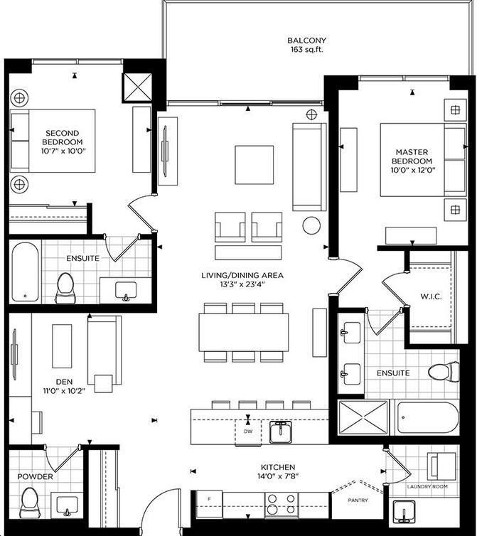 The Craftsman Condos By Vandyk The Warren Floorplan 2 Bed