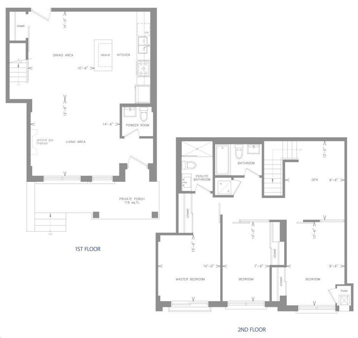 The Glen Condos By Kingston Road 103 Floorplan 3 Bed Amp 2