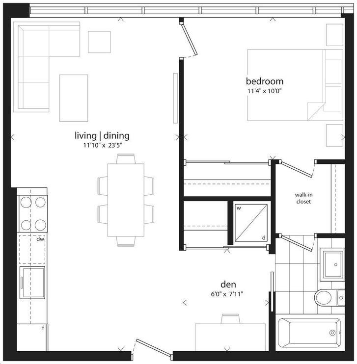 The Hive Lofts By Symmetry 599 Floorplan 1 Bed Amp 1 Bath