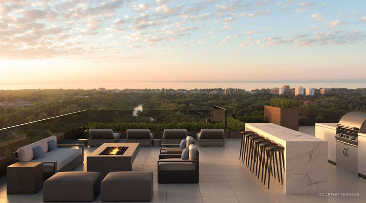 Rooftop Terrace at Oakville Condo
