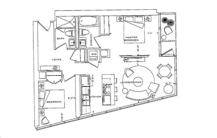 The L Tower By Cityzen E2 Floorplan 2 Bed Amp 2 Bath
