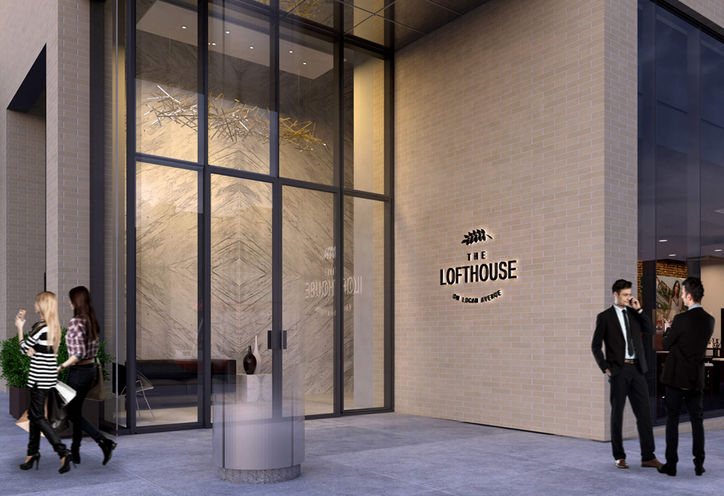 The Lofthouse Condos, Entrance at 794 Gerrard St E, Toronto, ON