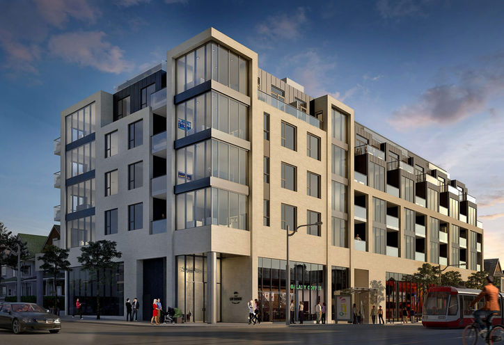 The Lofthouse Condos, at Logan Ave & Gerrard St E, Building Exterior