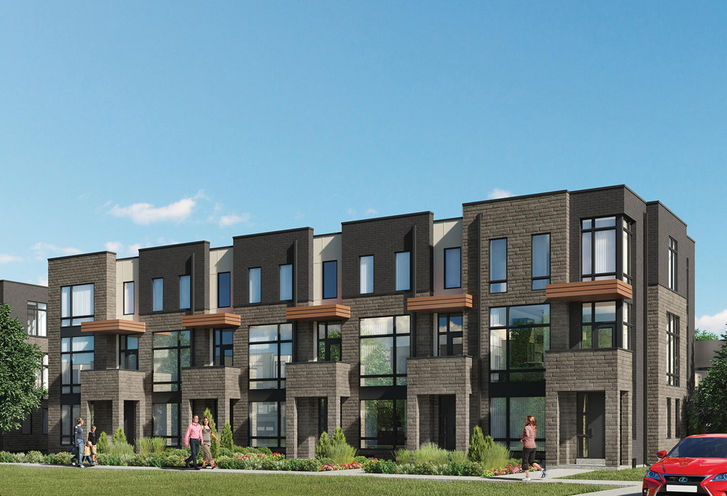 The Mack Townhomes exterior rendering