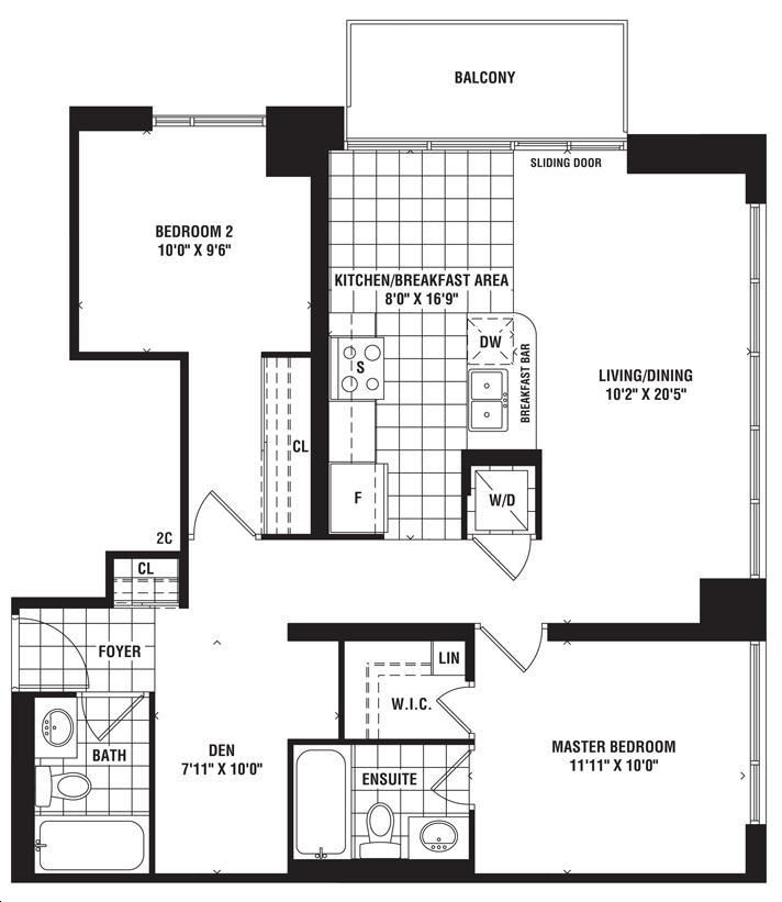 The Mirage Condos By Conservatory Mirage Floorplan 2 Bed