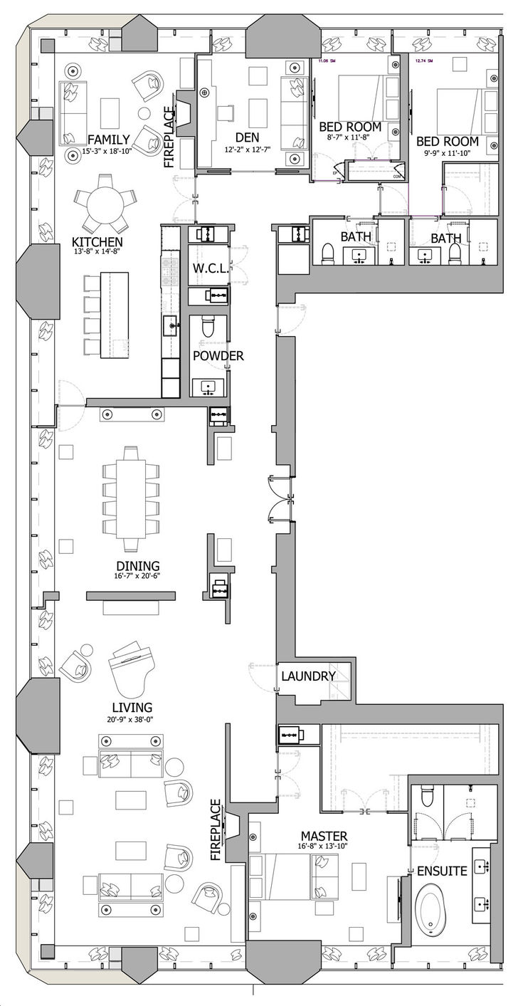 The One Condos By Mizrahi Penthouse Suites 01 Floorplan 3