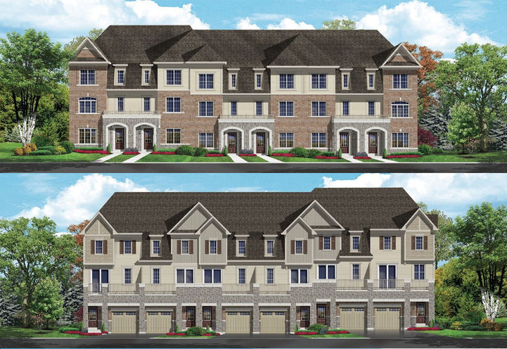 Orchards Enclave Towns Exterior Townhouses Front & Rear View