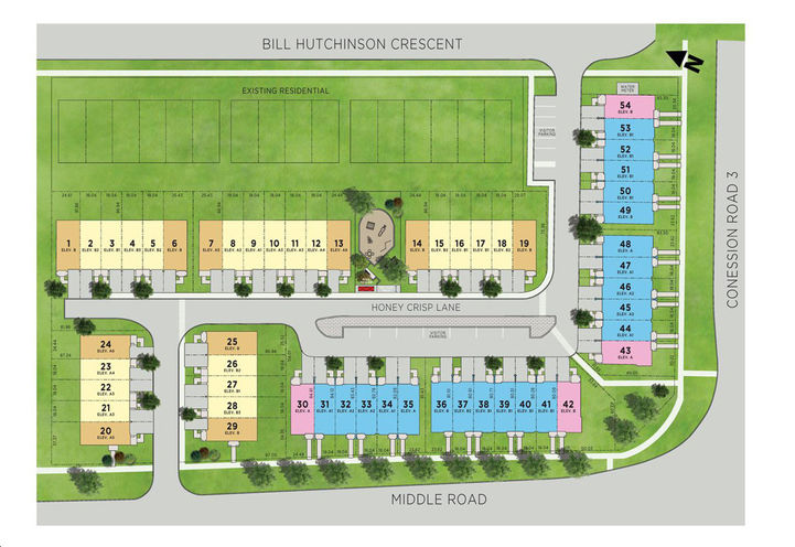 Orchards Enclave Towns Site Plan
