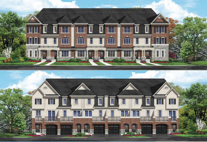 Orchards Enclave Towns Townhouses Front & Rear Exterior View