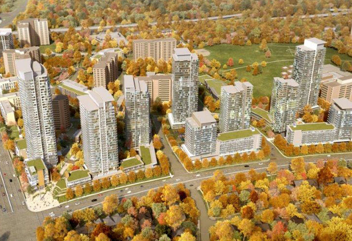 Emerald City Condominiums 9 Tower Master-Plan on Blocks A, B, & C