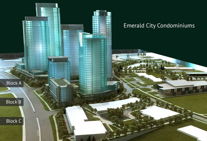 Emerald City Condos Master-Plan Model at Don Mills & Sheppard Ave E