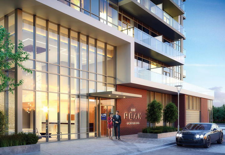 The Peak Condos at Emerald City Resident Entrance