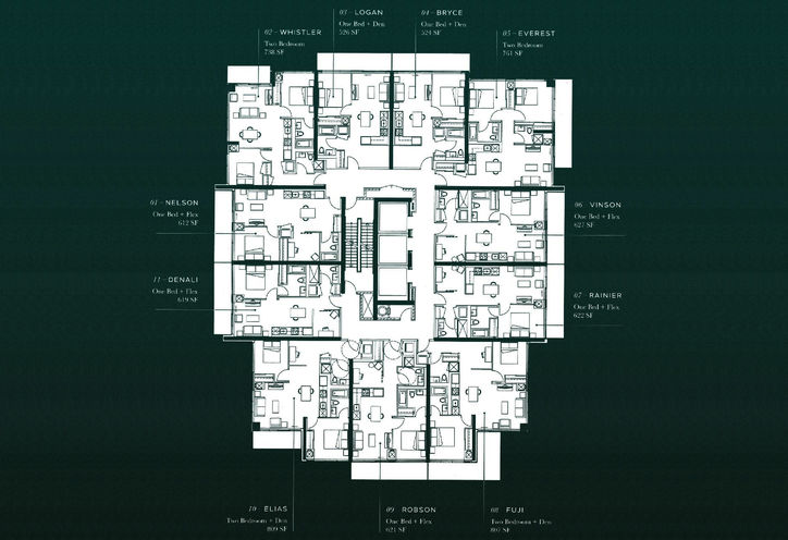 The Peak Condos at Emerald City Site Plan