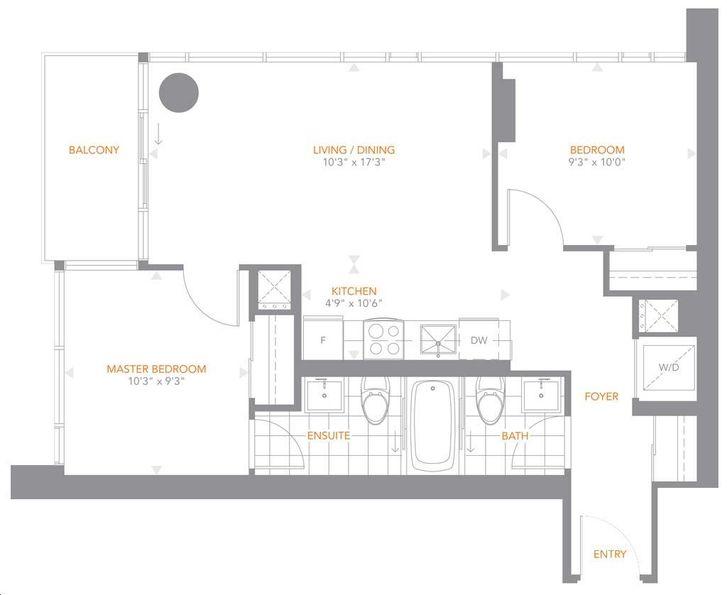 The Pinnacle On Adelaide By Pinnacle 02 Floorplan 2 Bed