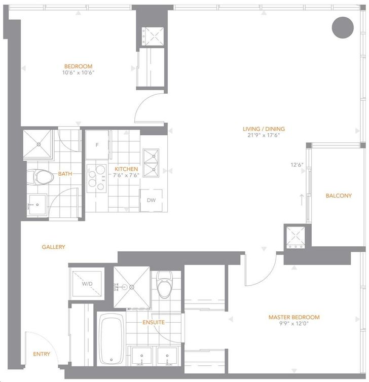 The Pinnacle On Adelaide By Pinnacle 04 Floorplan 2 Bed