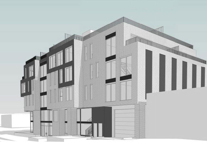 Side Elevation- The Stockton Condos