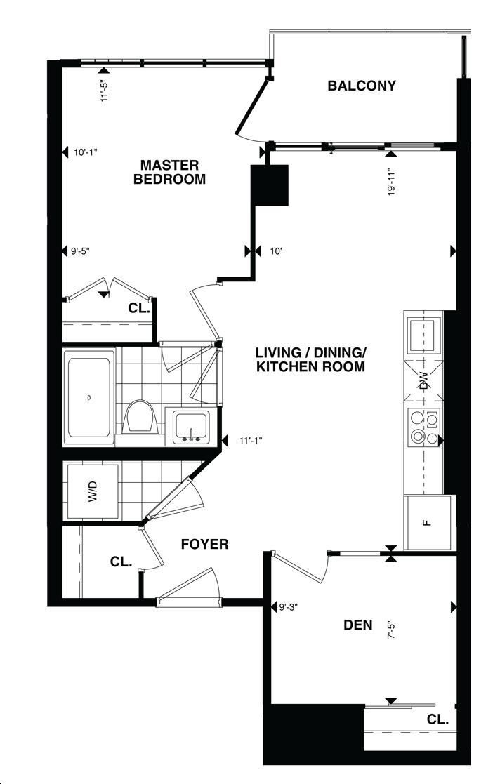 The tower at king west by plaza suite 2216 2416 floorplan for 1 king west floor plans