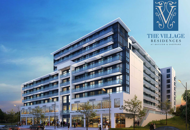 The Village Residences Exterior Rendering