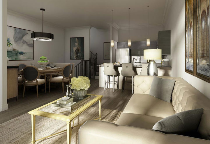 Living Room Features and Finishes at The Village Southfields Caledon