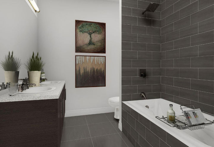 Washroom Suite Interior at The The Village Southfields Caledon