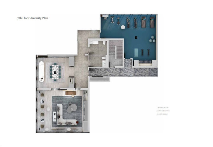 7th Floor Amenity Plan -The Well 3