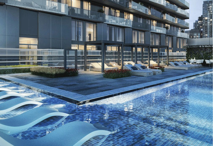 Terrace Pool at The Well Condos 3