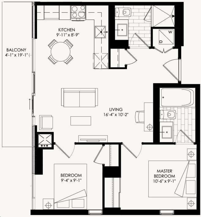 The Yorkdale Condos By Context Gucci Floorplan 2 Bed Amp 2 Bath