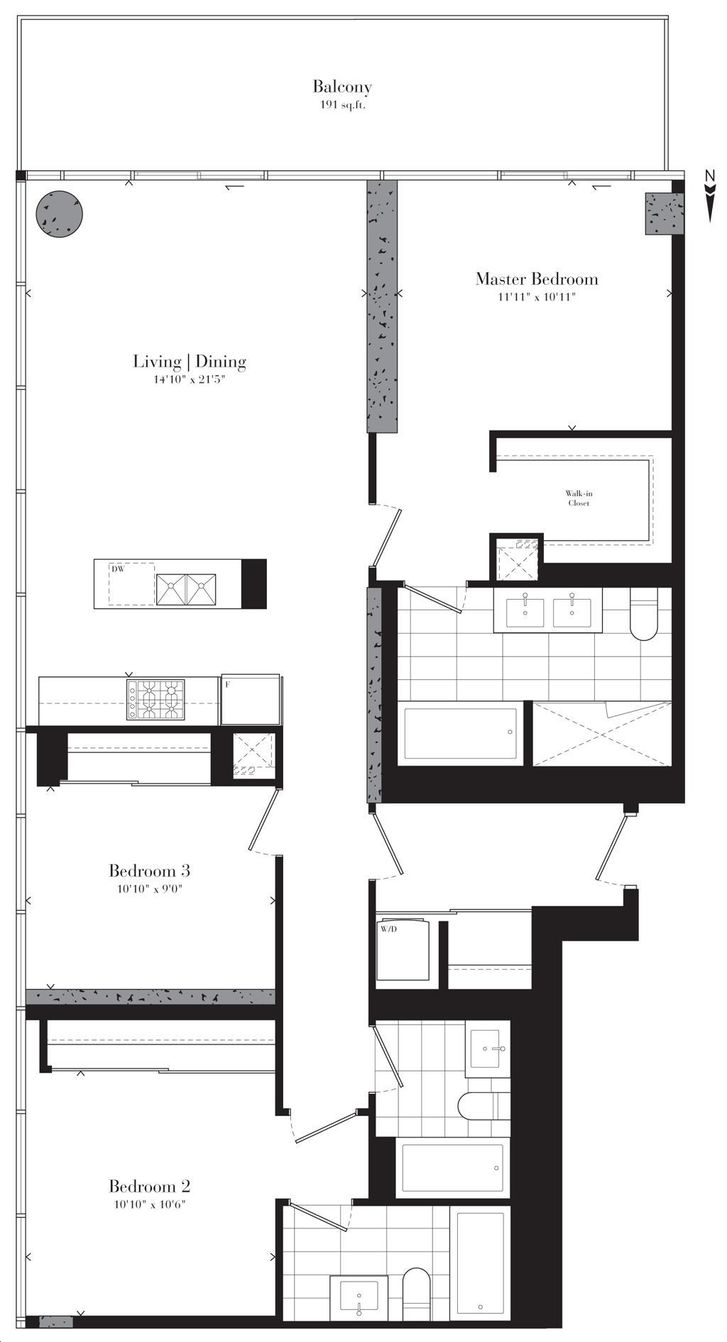 Theatre Park Condos By Lamb Carnegie Hall Floorplan 3 Bed Amp 3 Bath