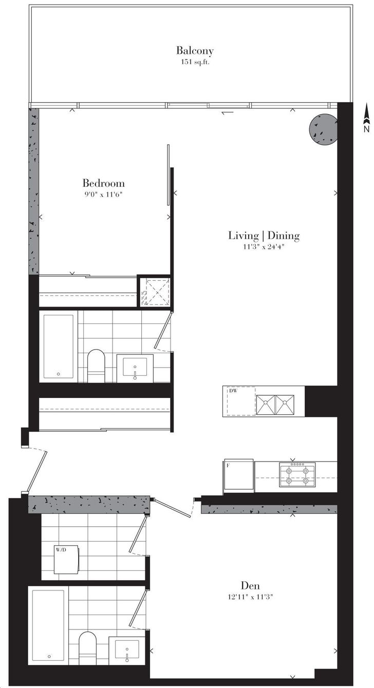 Theatre Park Condos By Lamb Festival Theatre Floorplan 1