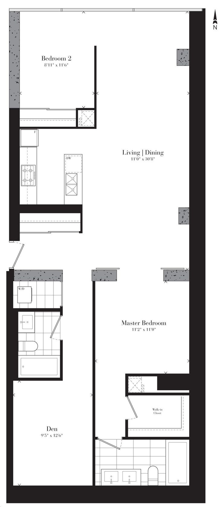 Theatre Park Condos By Lamb Moulin Rouge Floorplan 2 Bed