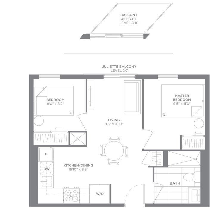 Pleasing Tretti Condos By Collecdev E13 Floorplan 2 Bed 1 Bath Download Free Architecture Designs Rallybritishbridgeorg