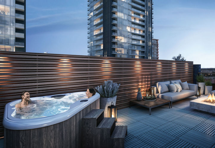 Private Rooftop at UltraSonic TownHomes