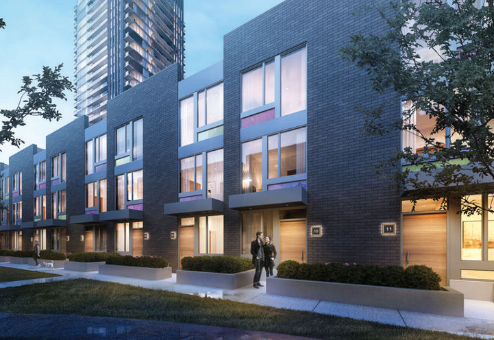 Street view of UtraSonic Townhomes by Lindvest Properties Limited