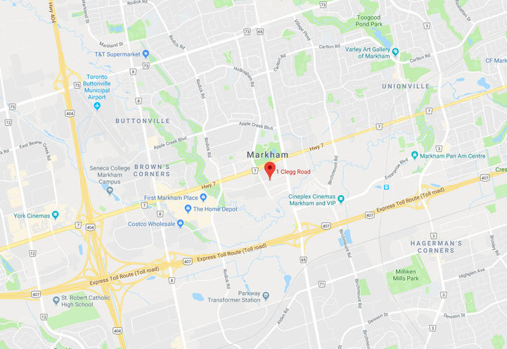 Future Location of Vendôme Markham by H&W Developments