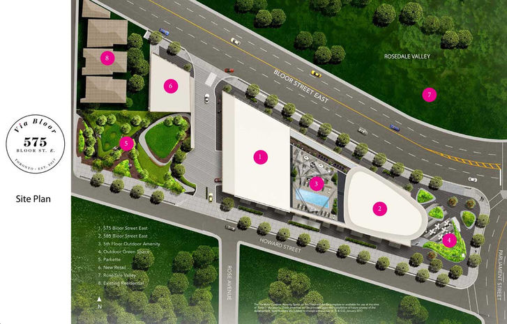 Via Bloor Site plan