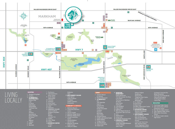 Village Homes on the Avenue Towns- Amenities Map