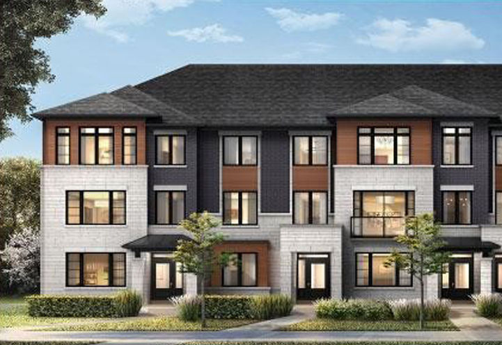 Village Homes on the Avenue Towns, Private Resident Entrances and Townhome Exteriors