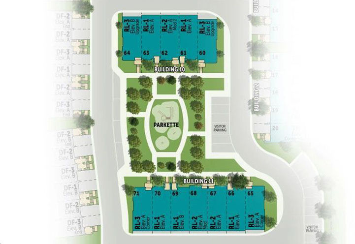 Village Homes on the Avenue Towns, Site Map
